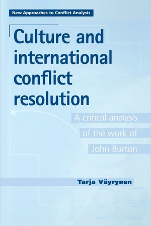 Cover Culture and international conflict resolution
