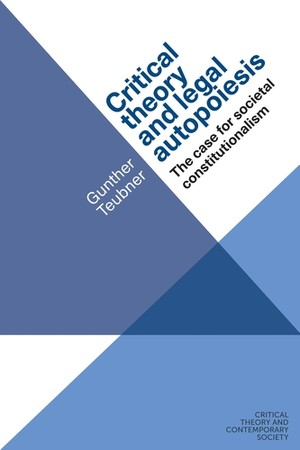 Cover Critical theory and legal autopoiesis