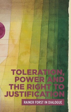 Cover Toleration, power and the right to justification