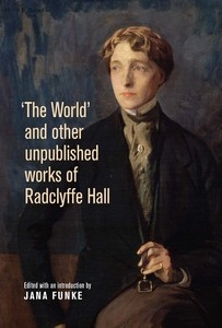 Cover 'The World' and other unpublished works of Radclyffe Hall