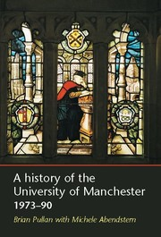 Cover A history of the University of Manchester 1973–90