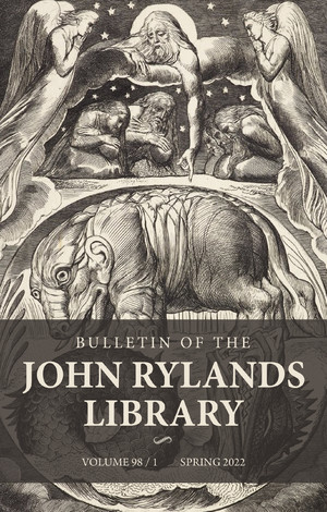 Cover Bulletin of the John Rylands Library