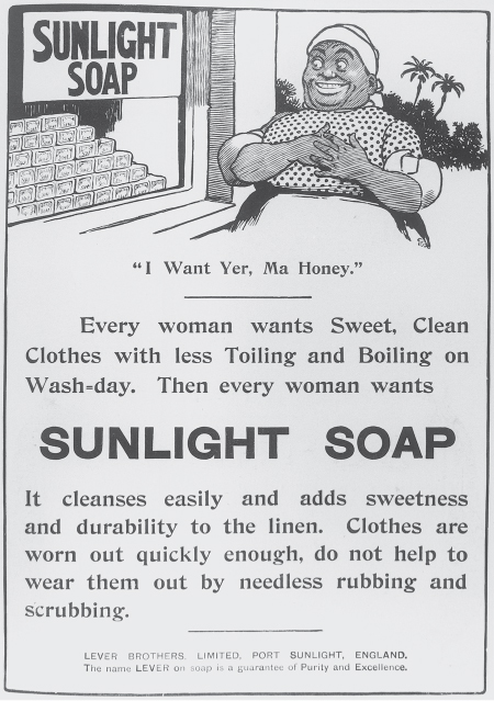 Soap advertising, the trader as civiliser and the scramble